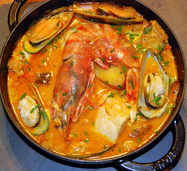 Suquet de Peix - looks delicious, maybe minus the oysters