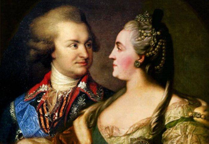 Екатерина II и князь Потемкин.