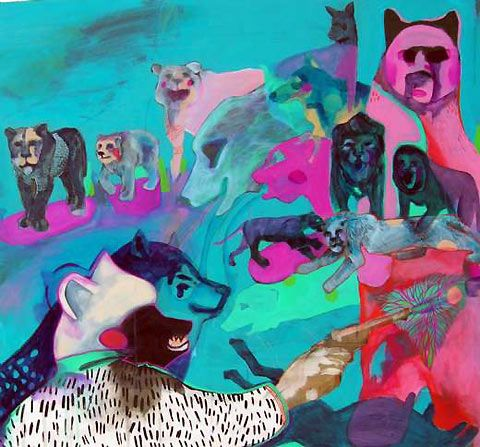 Colourful work by New Zealand artist Mica Still