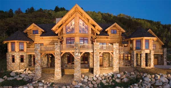 1000 images about log homes on pinterest luxury log for Big log homes