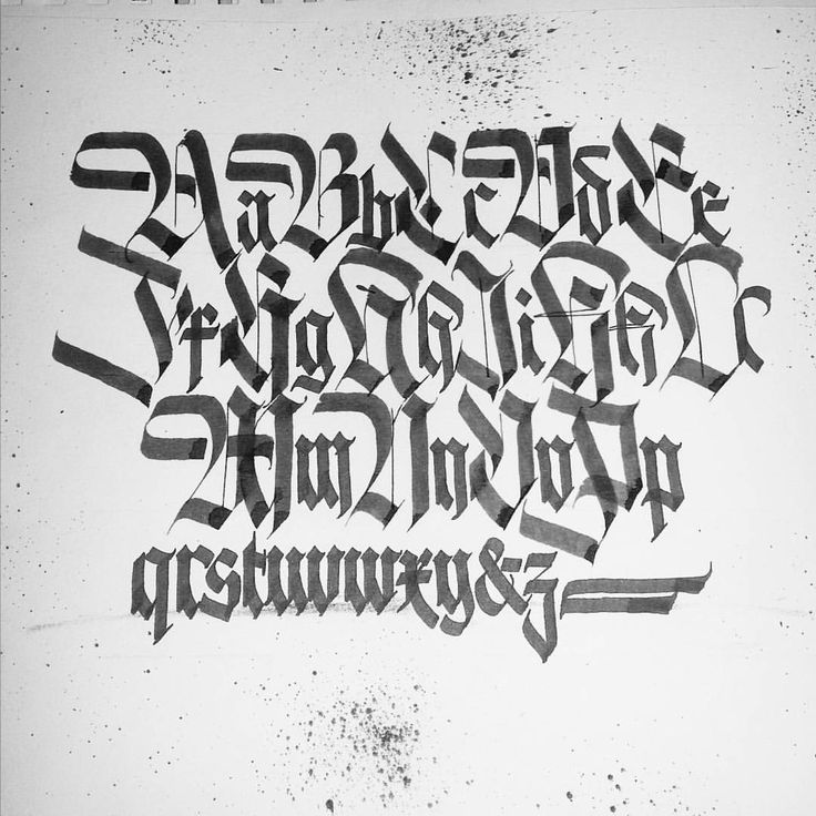 "384 Likes, 6 Comments - Justin Albright (@alpha_bet_assassin) on Instagram: ""Back from vacation .. #alphabet#calligraphy #calligraffiti #blackletter #fraktur #typography…"""