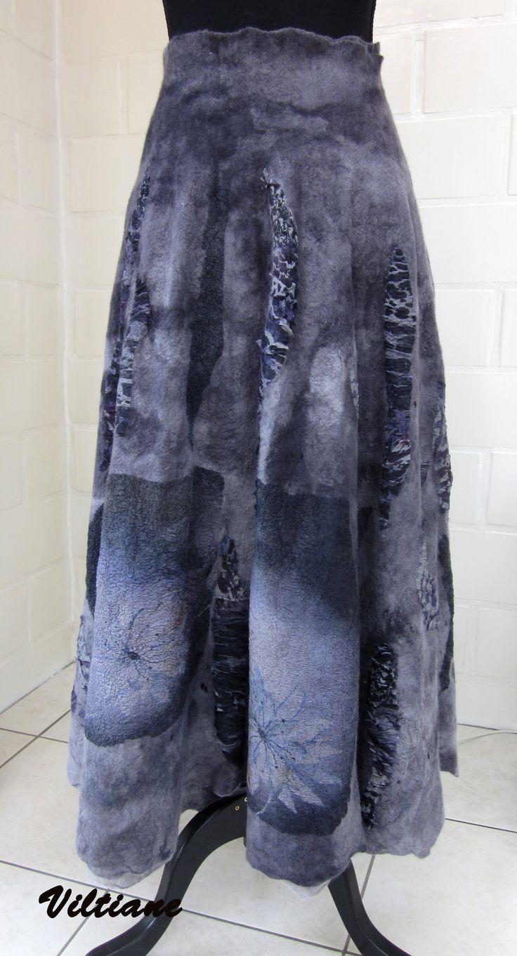 nuno felted skirt