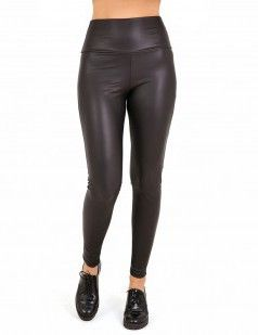 Black leather look leggings - sales-25 euros