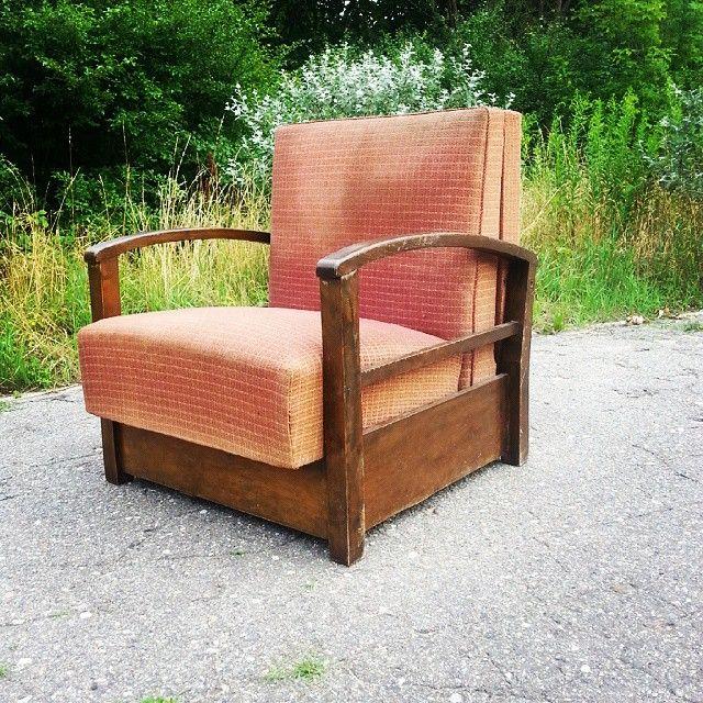 Great art deco armchair Piękny fotel art deco z funkcją spania  Dzisiaj zapraszamy do sklepu w godz. 16 - 18 Ul. Św. Marcin 45 Pasaż pod Złotą Kulą Poznań  #vintage #interiors #industrial #design #loft #retro #vintageshop #sklepvintage #poznan #midcenturymodern #midcentury #vintagestyle #interiordesign #interiorstyling #furniture #fotele #chair #armchair #sessel #antiques #retro #old #fotel #50s #lata50te #50er #artdeco