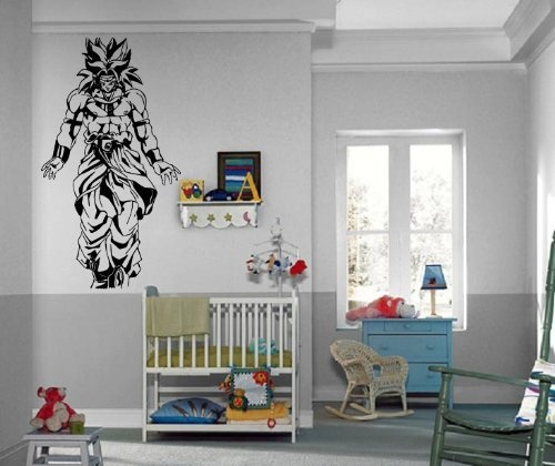 Dragon ball z broly saiyan anime manga decor wall mural for Dragon mural for wall