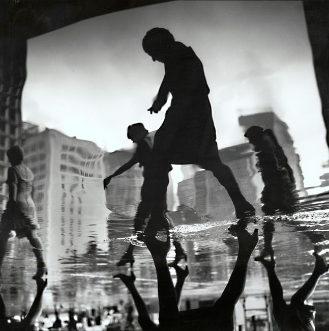 Arthur Tress - Office Workers Returning Home, New York City, 1966