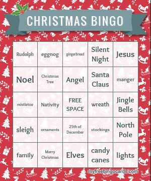 Holiday Bingo Cards to Print