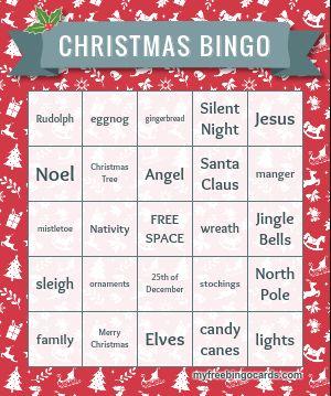 Holiday Bingo Cards to Print