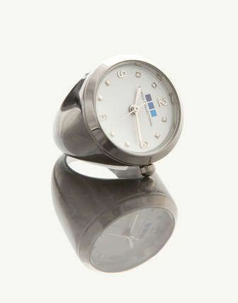 La Mer Collections - La Mer Collections Silver w/ White Face Ring Watch