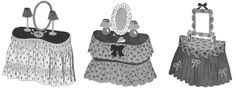 The Vintage Pattern Files: 1940's Sewing - Dressing Table Skirts