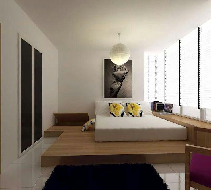 Platform bed  Bedroom  Pinterest  침실 아이디어, 침대 및 모던 침실