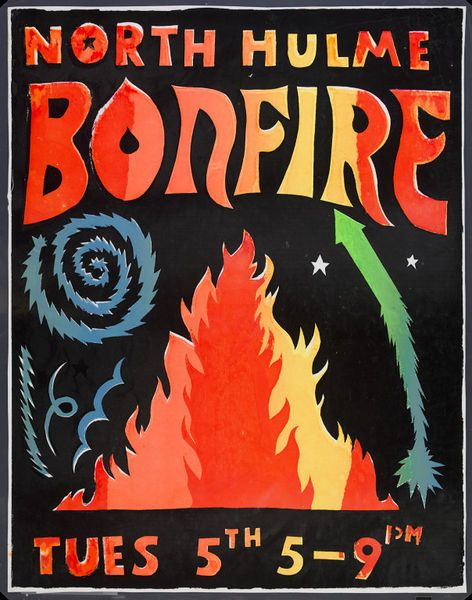North Hulme Bonfire poster by the Greenwich Mural Workshop, 1985 l Victoria and Albert Museum