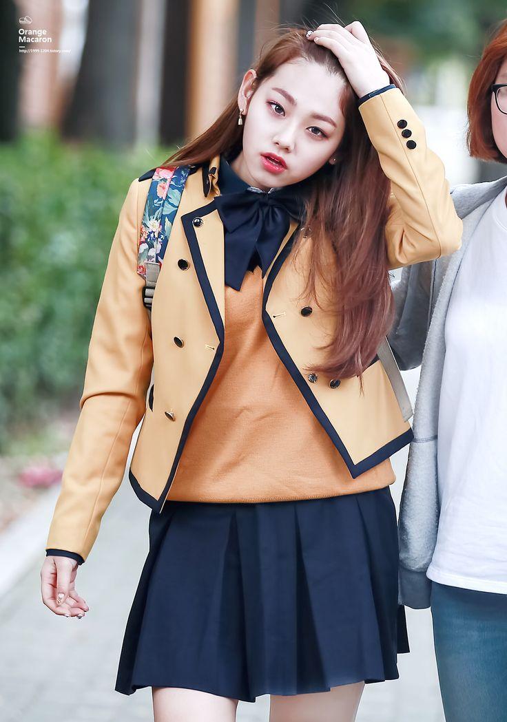 GUGUDAN - Kang MiNa 강미나 in SoPA uniform #미나 #과즙소녀 #Gu9udan #서공예 #서울공연예술고등학교 #교복