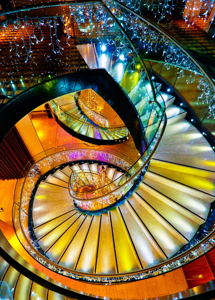 Stairs at the Hilton Hotel Manchester.