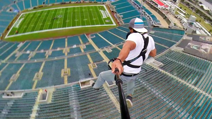 Rope Swing Zipline - NFL Stadium AAAAAAAAAAAAAAAAAA! I so want to do this!!!!!!!!!!