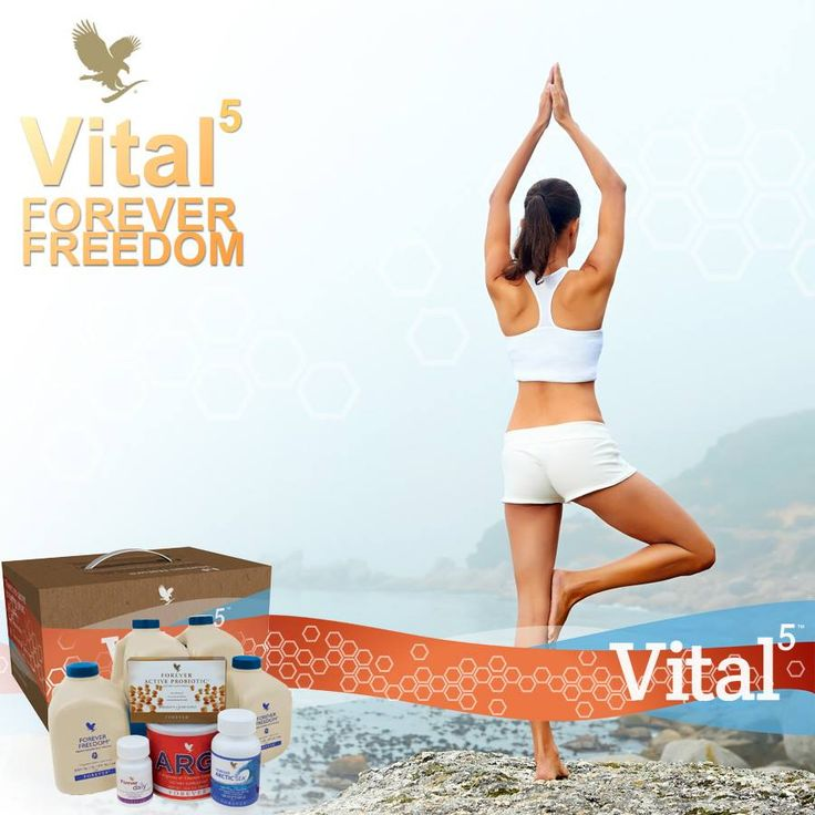 Forever Living Products is proud to introduce Forever Vital5 - our solution to healthy nutrition in one simple pack. Vital 5 contains Forever Freedom, Forever Daily, Forever Active Probiotic, Forever Arctic Sea and ARGI+. Together these products help to support the Nutrient Superhighway.