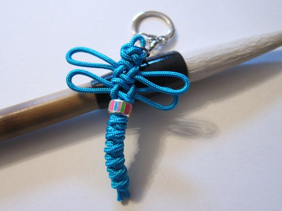 Korean Maedeup Dragonfly Keychain Turquoise by meverden on Etsy
