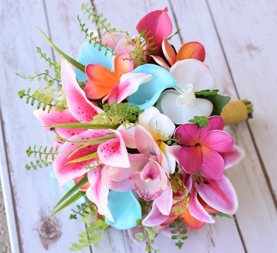 Coral And Pink Wedding Flowers: Wedding Hot Pink, Coral And Turquoise Tiffany Natural