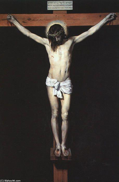 'christus auf dem kreuz', öl auf leinwand von Diego Velazquez (1599-1660, Spain)
