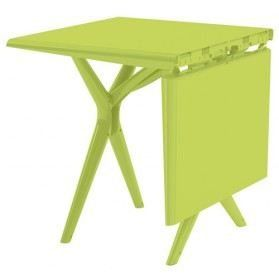 grosfillex sigma collapsible folding table 115cm in choice of grey green or purple green - Grosfillex