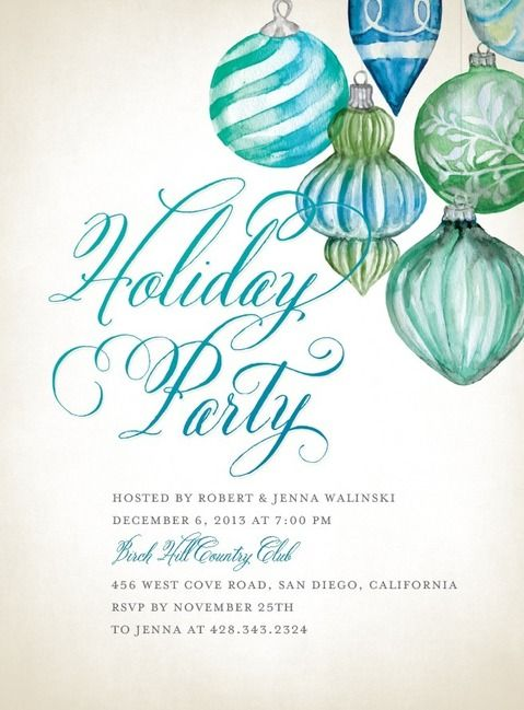 57 best Holiday invite images on Pinterest Christmas parties