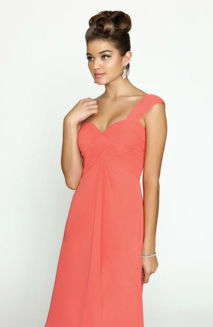 available at Spotlight Formal Wear short chiffon one shoulder bridesmaid dress