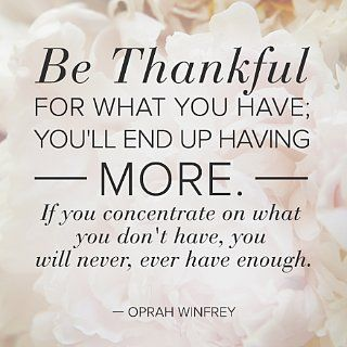 Wise Words Wednesday: Be Thankful For What You Have: This Wednesday, Christmas