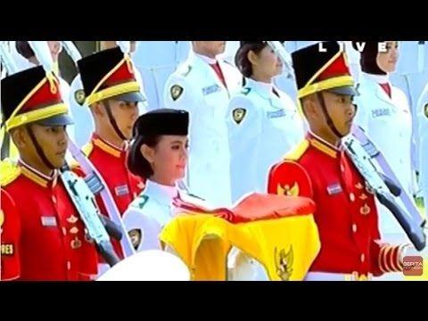 Upacara Pengibaran Bendera Merah Putih Di Istana 17 Agustus 2016