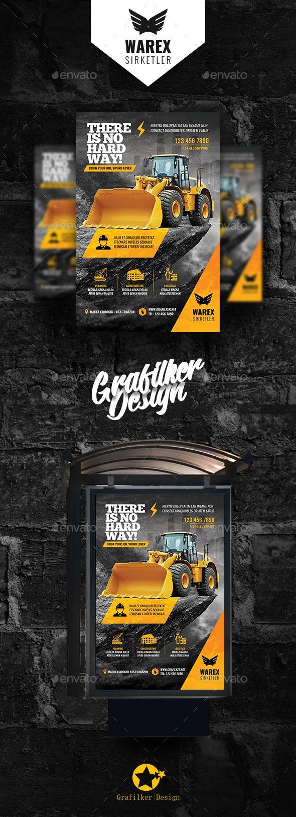 #Construction Poster Templates - #Signage Print Templates