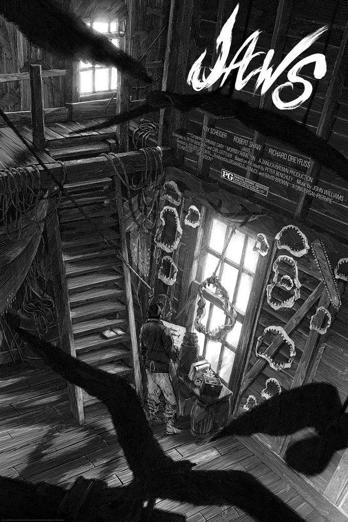 Nicolas Delort – Jaws Exclusive Comic Con Print for Mondo