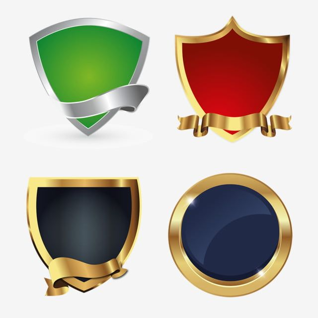 Golden Shields Logo Icon Badges Collection Shield Clipart Logo Icons Collection Icons Png And Vector With Transparent Background For Free Download Logo Icons Logo Design Free Templates Shield Icon
