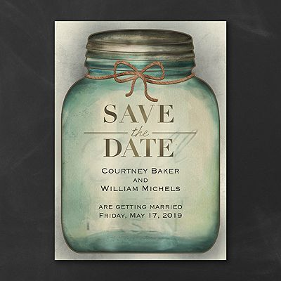 Country Style - Save the Date Card