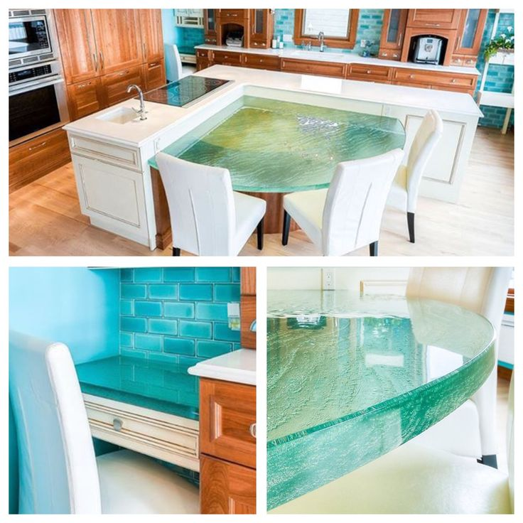 64 Best Unique Glass Kitchen Counter And Island Tops