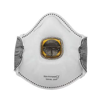 JSP Spirotek 726 Typhoon Fold Flat Valved Odour FFP2OV. Disposable, fold flat mask with Typhoon valve system. Low CO², heat and moisture build-up. Tested at -40°C to ensure the masks continue to perform at extreme temperatures. http://www.MightGet.com/january-2017-13/jsp-spirotek-726-typhoon-fold-flat-valved-odour.asp