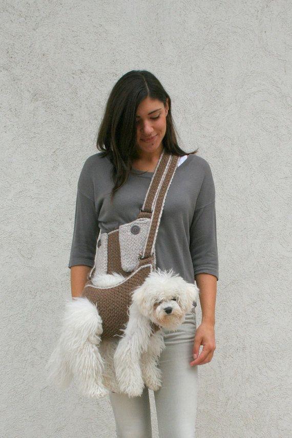 Pet carrier / Crochet dog carrier / Dog sling carrier от BubaDog