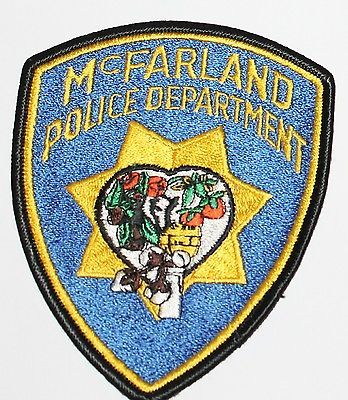 McFARLAND POLICE DEPT Kern County California CA PD patch