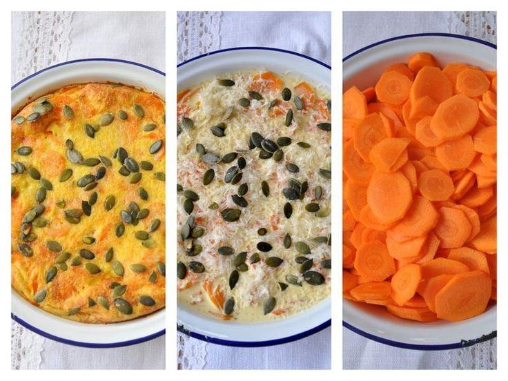 Gratin de carottes aux épices parmesan et graines de courge