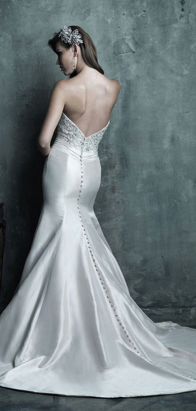 129 best Allure Couture images on Pinterest   Short wedding gowns ...