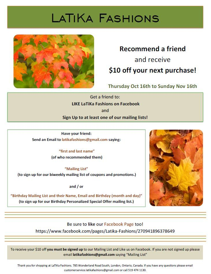 Recommend a Friend and Receive $10 off!