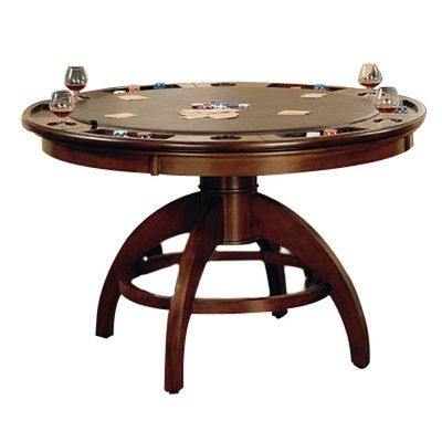 Palm Springs Game Table in Brown Cherry