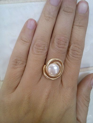 Hey, I found this really awesome Etsy listing at https://www.etsy.com/listing/179940397/holiday-sale-pearl-ringspiral-ring-gold