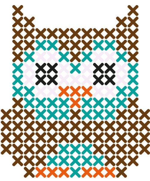 Owl cross stitch pattern...good one for Emily to start with. Could turn these into granny squares.