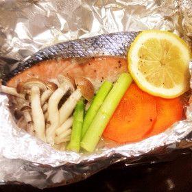 鮭のホイル焼きとピーマンぽん酢。ヘルシオ by utoS [クックパッド ...