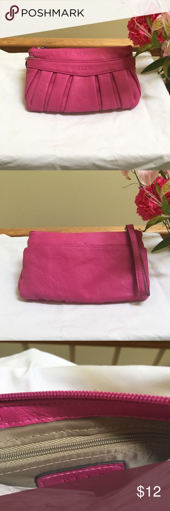 Women's Zip Wristlet Pouch -Elle • One Size • A easy a chic way to carry all of your personal needs; This Women's Wristlet Pouch is a must- have. For use as a wallet, just toss this pouch into a larger bag. Elle Bags Clutches & Wristlets