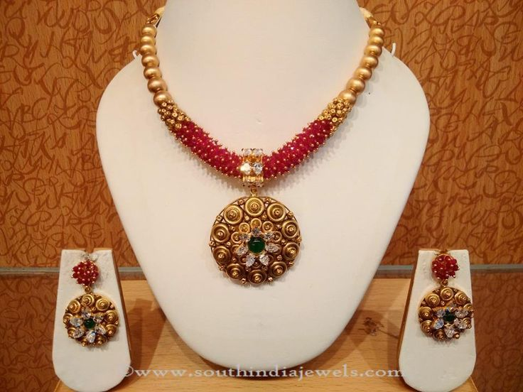 Light Weight Gold Necklace Sets, Light Weight Gold Jewellery Sets, Light Weight Designer Necklace Sets.