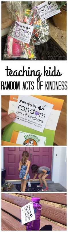 Random Acts of Kindness. A great way to teach children compassion and kindness. Try these ideas with your kids over summer or winter break.