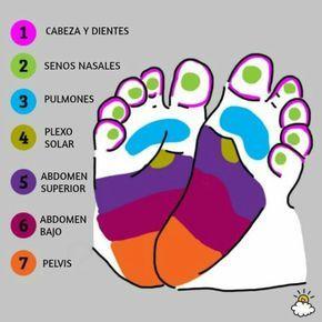 ilustración reflexiología de pies para salud de tu bebé