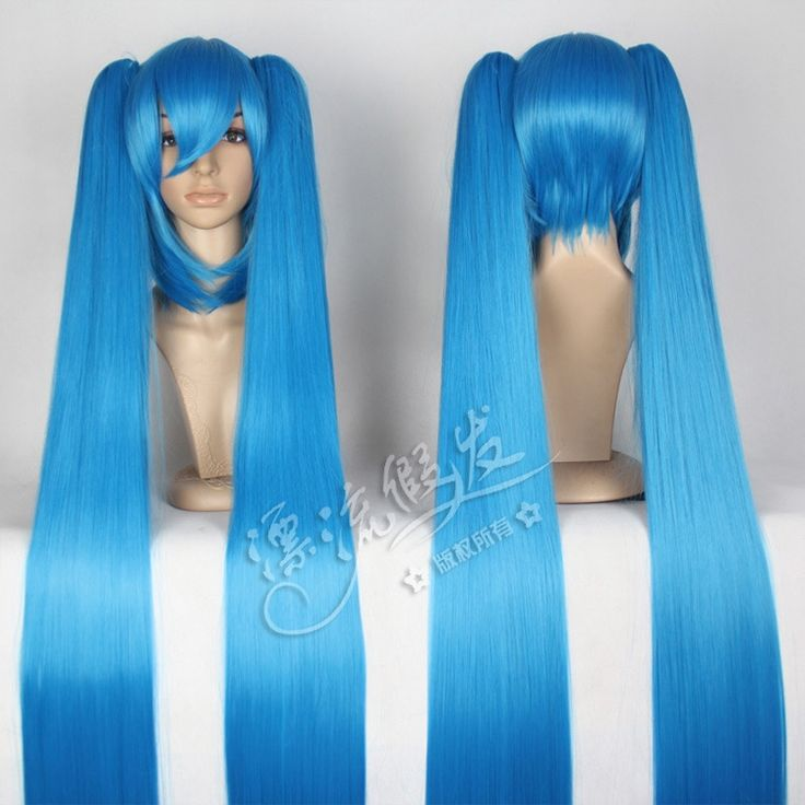 29.09$  Buy here  - VOCALOID V MIKU Miku lake blue double ponytail Anime Cosplay wig