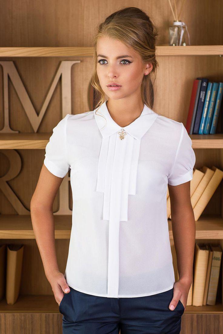 x Белая блуза с декором Molegi