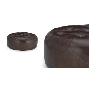 The 1960s inspired Scott Large Round Ottoman brings investment style at an affordable price.